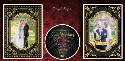 Wedding DVD CD Cover & Disc. Custom design. Royal Style