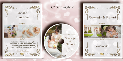 Wedding DVD case with printed disc design