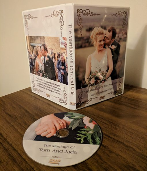beautiful wedding dvd cases. custom made single