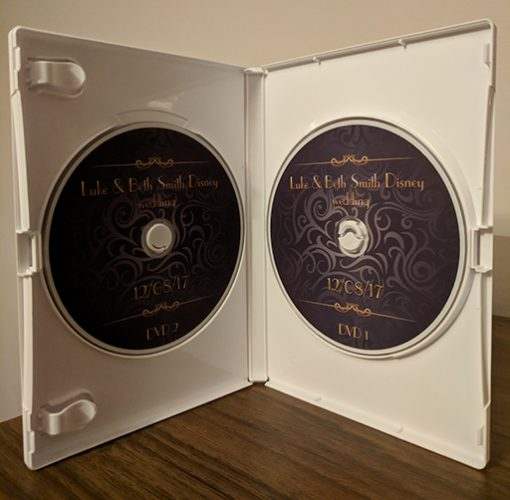 double dvd wedding case custom made including disc