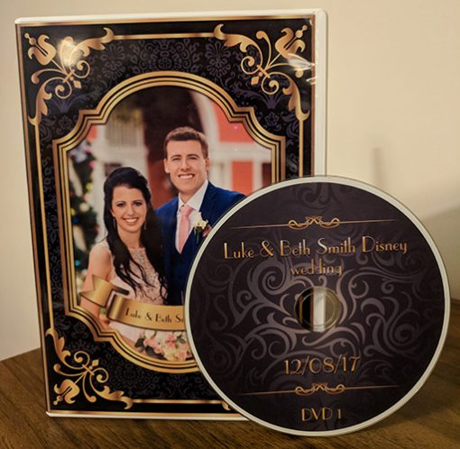 wedding dvd case with disc custom made Roayl style