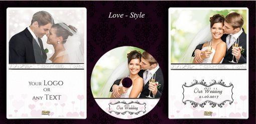 Classic Wedding DVD disc and case printing service. gift idea