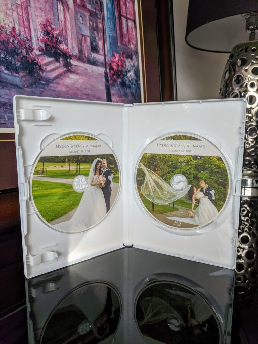 Personalised Wedding DVD case with Disc