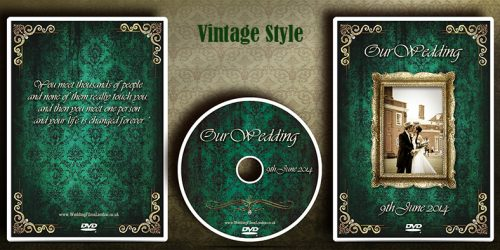 DVD Cover & Disc design service. Vintage style disc case