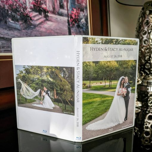 Personalised Wedding DVD CD case with Disc. Custom design.