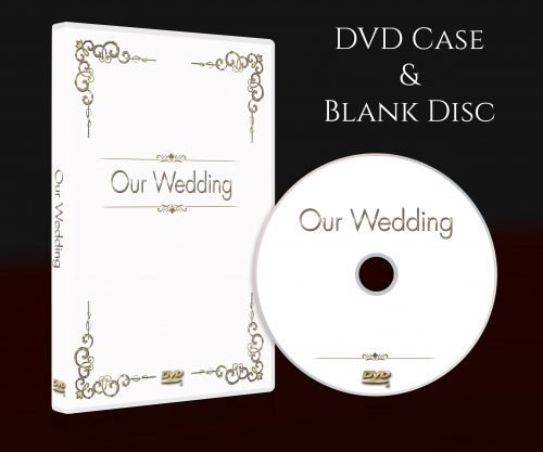 Wedding dvd storage box with blank disc