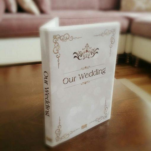 custom made wedding dvd case design