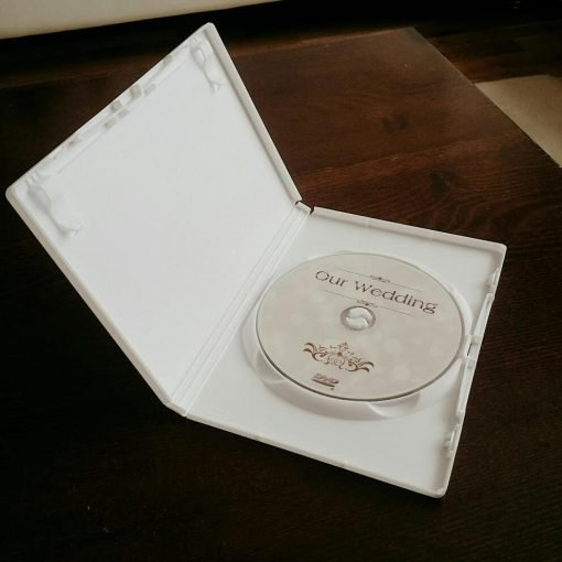 our wedding dvd design case