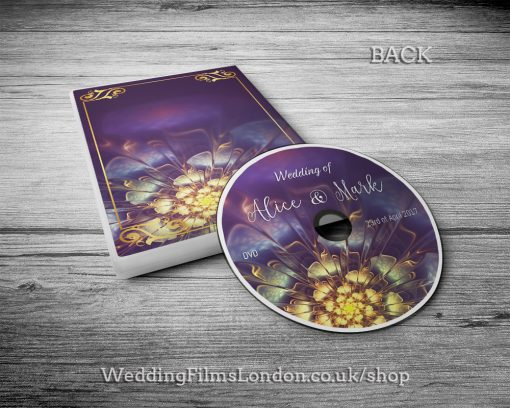 Classic Wedding DVD case design & print service. Beautiful wedding disc cover. With Love. DVD sleave, box