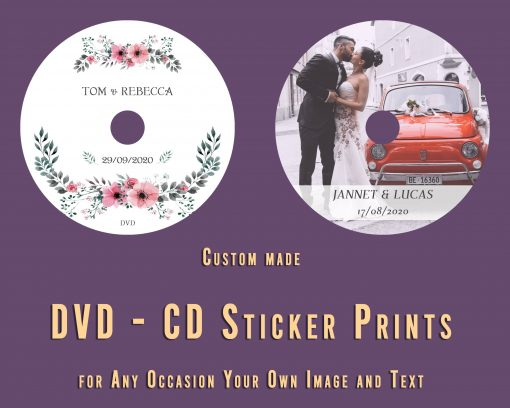 Customised DVD Cd label stickers. Print service