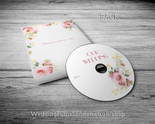 Wedding DVD case, disc design & print service. Jewish wedding video. DVD box. Wedding Films London. Design N5