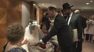Bedeken. Jewish wedding in London