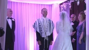 Chuppah ceremony explained. Jewish wedding
