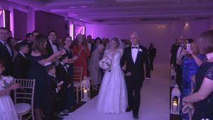 bride walking down the isle. Jewish wedding video