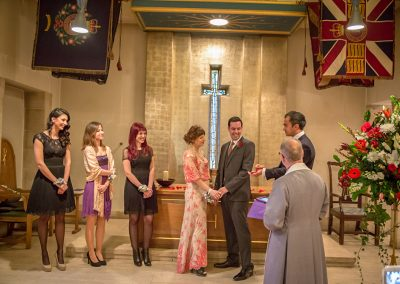 wedding ceremony at london chelsea church