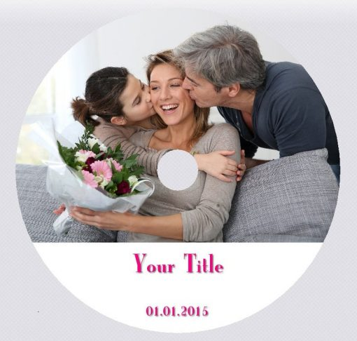 Custom CD DVD disc label design and print service UK